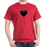 Black Glossy Heart Anti Valentine Dark T-Shirt
