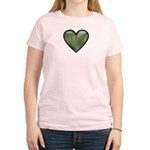 Love Military Cammo Heart Women's Light T-Shirt
