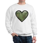 Love Military Cammo Heart Sweatshirt