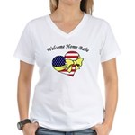 Welcome Home Babe Patriotic Women's V-Neck T-Shirt