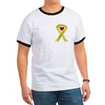 We Support You Yellow Ribbon Ringer T