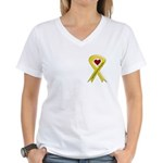 I Am Proud Of My Daughter Yel Women's V-Neck T-Shi