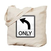 Left Only Tote Bag