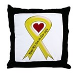 Keep My Son-in-law Safe Ribbon Throw Pillow