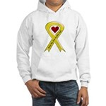 Keep My Son-in-law Safe Ribbon Hooded Sweatshirt