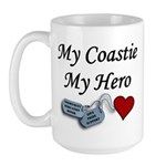 USCG Coastie Hero Dog Tags Large Mug
