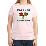 MY DAD IS IN IRAQ - FREEDOM Women's Light T-Shirt