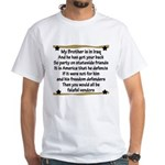 My Brother's Got Your Back Military Poem White T-S