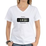 Women's V-Neck T-Shirt : Sizes Small,Medium,Large,X-Large  Available colors: White