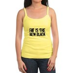 Fat Is The New Black Funny T-Shirts & Gifts Jr. Spaghetti Tank