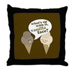 Vanilla Face Throw Pillow