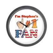 I'm Stephen's #1 Fan Wall Clock
