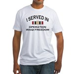 I served OIF medal Fitted T-Shirt