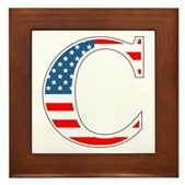 C stands for Colbert Framed Tile
