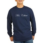 Mrs. Colbert Long Sleeve Dark T-Shirt