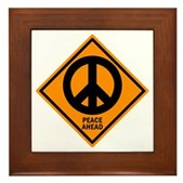 Peace Ahead Framed Tile