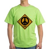 Peace Ahead Green T-Shirt
