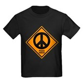 Peace Ahead Kids Dark T-Shirt