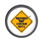 May Contain Nuts! Wall Clock