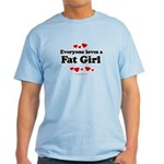 Everyone loves a Fat girl Light T-Shirt