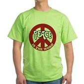 Peace is the word Green T-Shirt