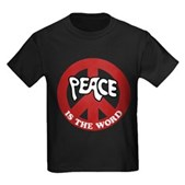 Peace is the word Kids Dark T-Shirt