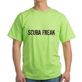 Scuba Freak Green T-Shirt