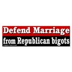 Defend Marriage Bumper Sticker
