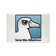 Save the Albatross (close-up) Rectangle Magnet