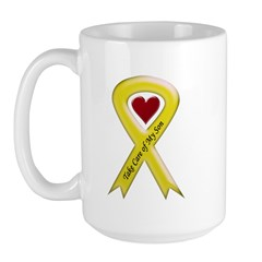 Take Care of my Son Yellow Ribbon Large Mug