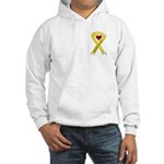Keep My Soldier Safe Yellow Ribbon Hooded Sweatshi