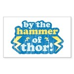 By the Hammer of Thor Rectangle Sticker