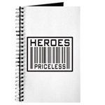 Heroes Priceless Support Our Troops Journal