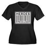 Heroes Priceless Support Our Troops Women's Plus S