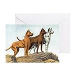 Great Dane Art Greeting Cards