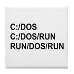 See DOS Run Tile Coaster