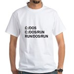 See DOS Run White T-Shirt