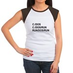 See DOS Run Women's Cap Sleeve T-Shirt