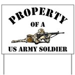 Property of a US Army Soldier Yard Sign