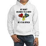 Navy Hero Africa Hooded Sweatshirt