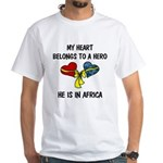 Navy Hero Africa White T-Shirt