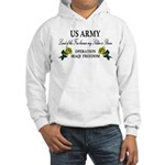 US Army OIF My soldier is brave Hooded Sweatshirt