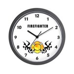 Firefighter Tattoo Wall Clock
