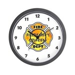 Firefighters Girlfriend Wall Clock
