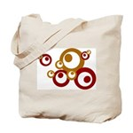 Retro Orange Circles Tote Bag