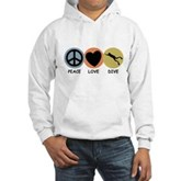 Peace Love Dive Hooded Sweatshirt