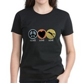 Peace Love Dive Women's Dark T-Shirt