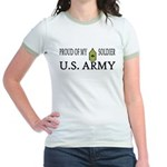 MSG - Proud of my soldier Jr. Ringer T-Shirt