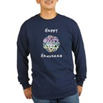 Hanukkah Chanukah Long Sleeve Dark T-Shirt