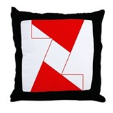 Scuba Flag Letter Z Throw Pillow